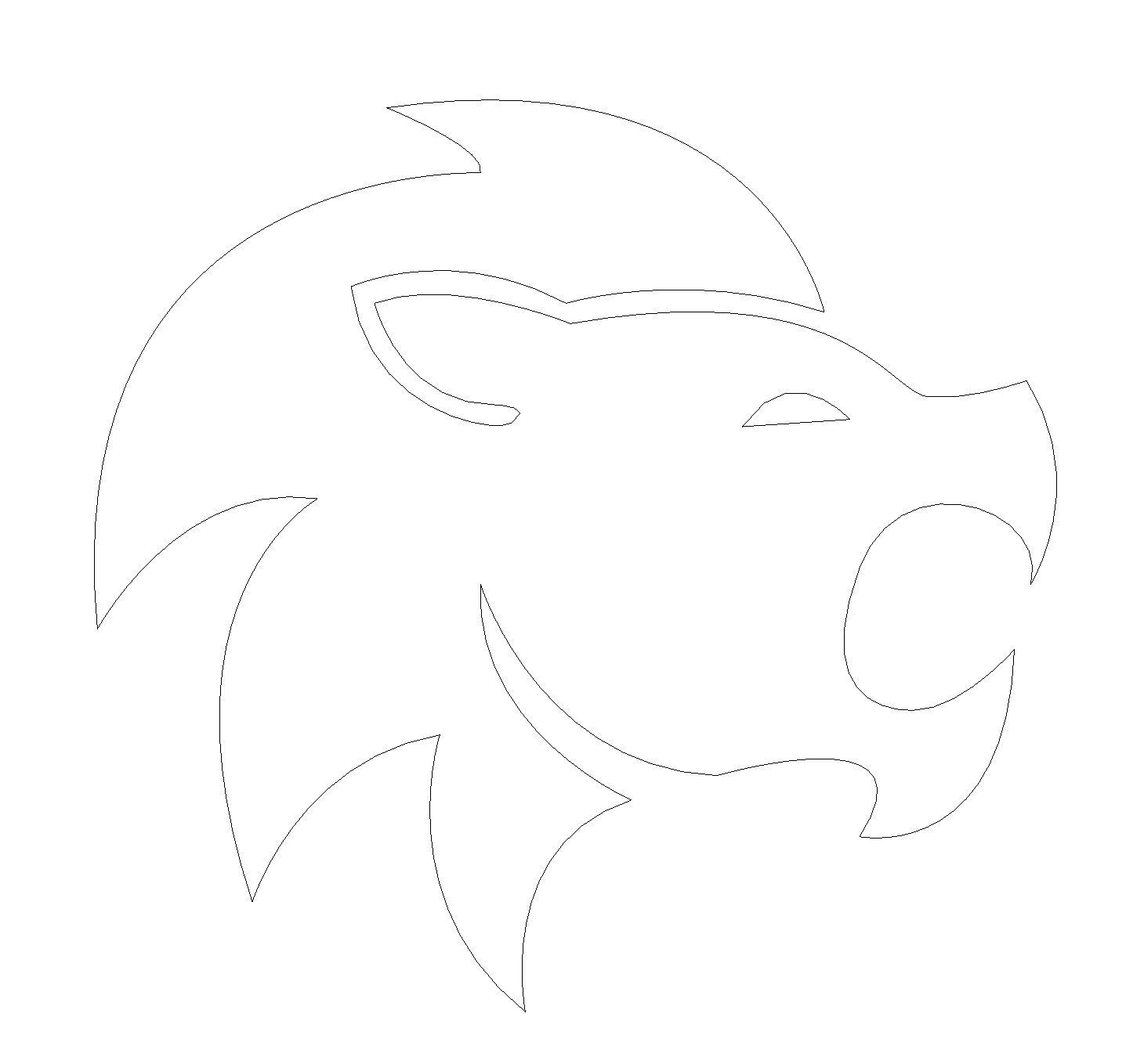 Löwe Gravur