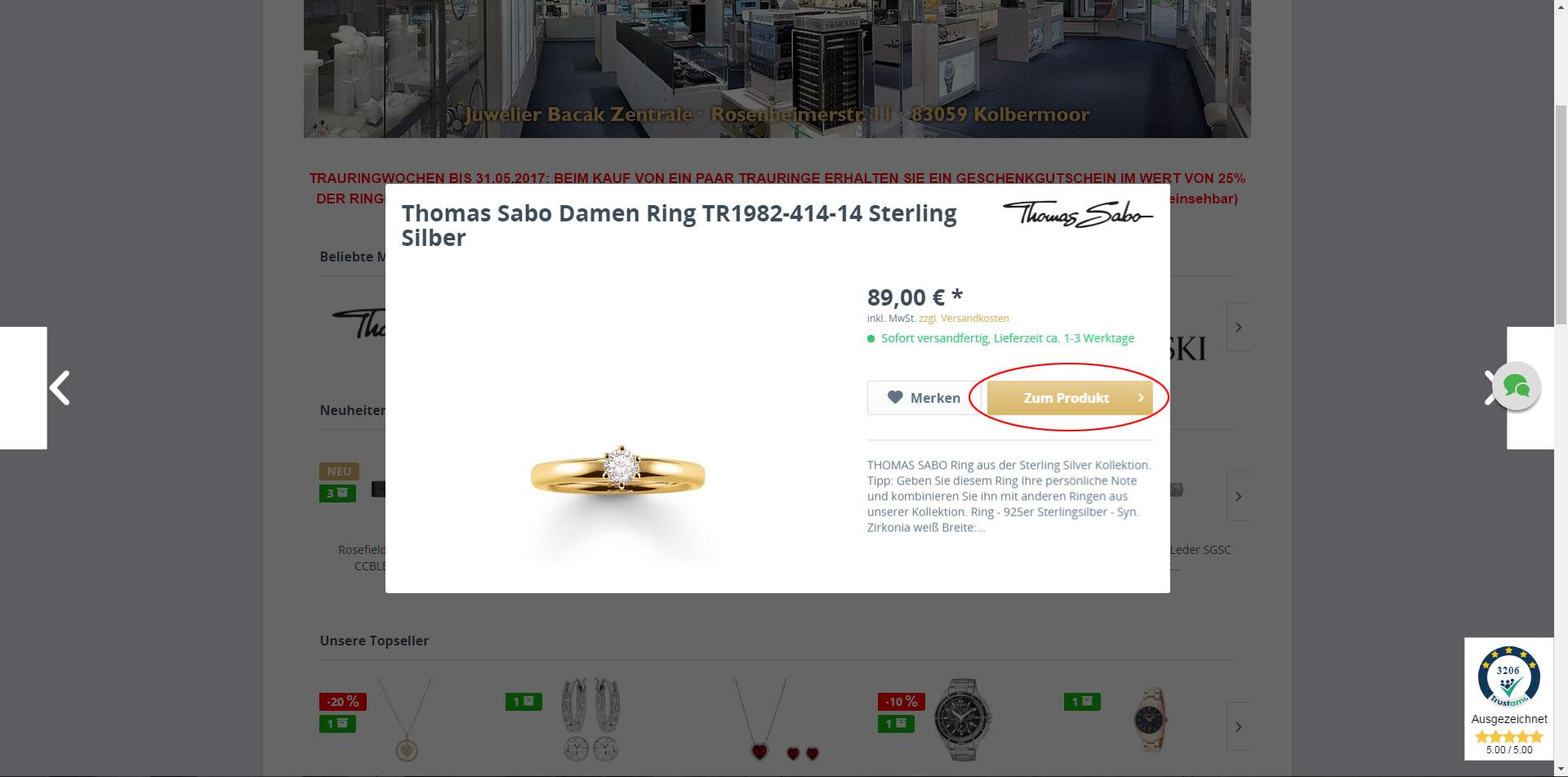 Zum Produkt - Screenshot